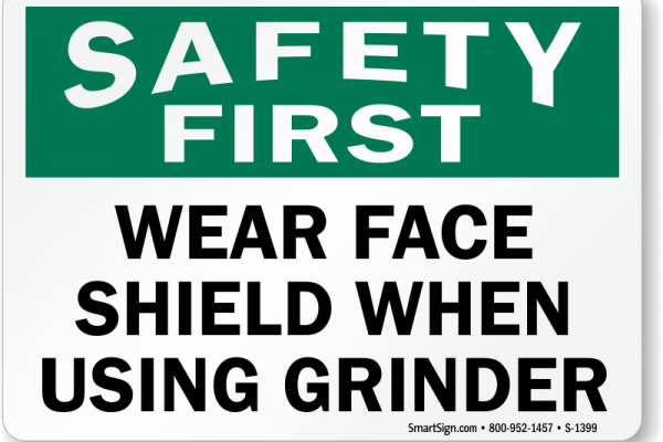 wear-face-shields-safety-first-sign-s-1399